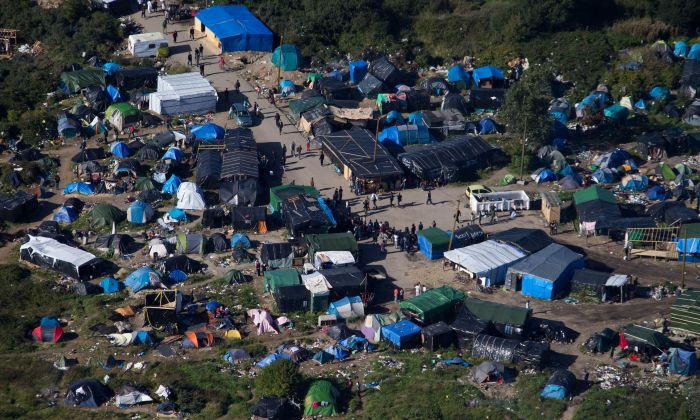 The migrant camp known as the New Jungle Camp, near Calais, northern France. AP/Hollandse Hoogte
